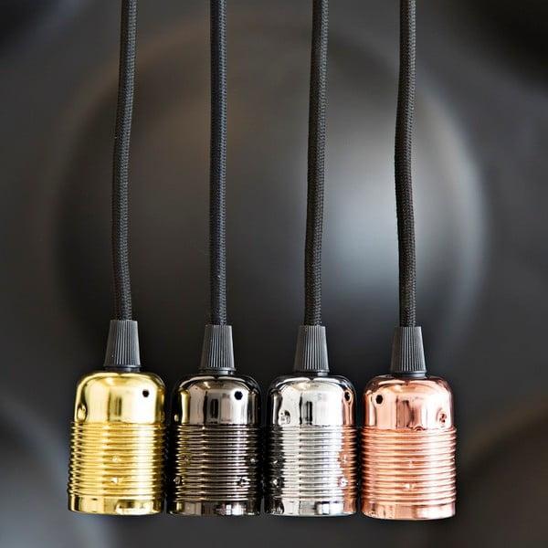 Kabel materiałowy do lampy Dan Lamp Chrome, 3 metry