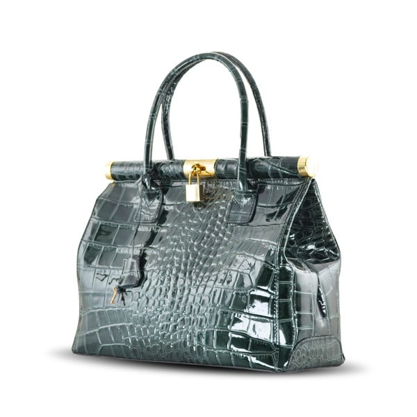Skórzana torebka Justine, zielona