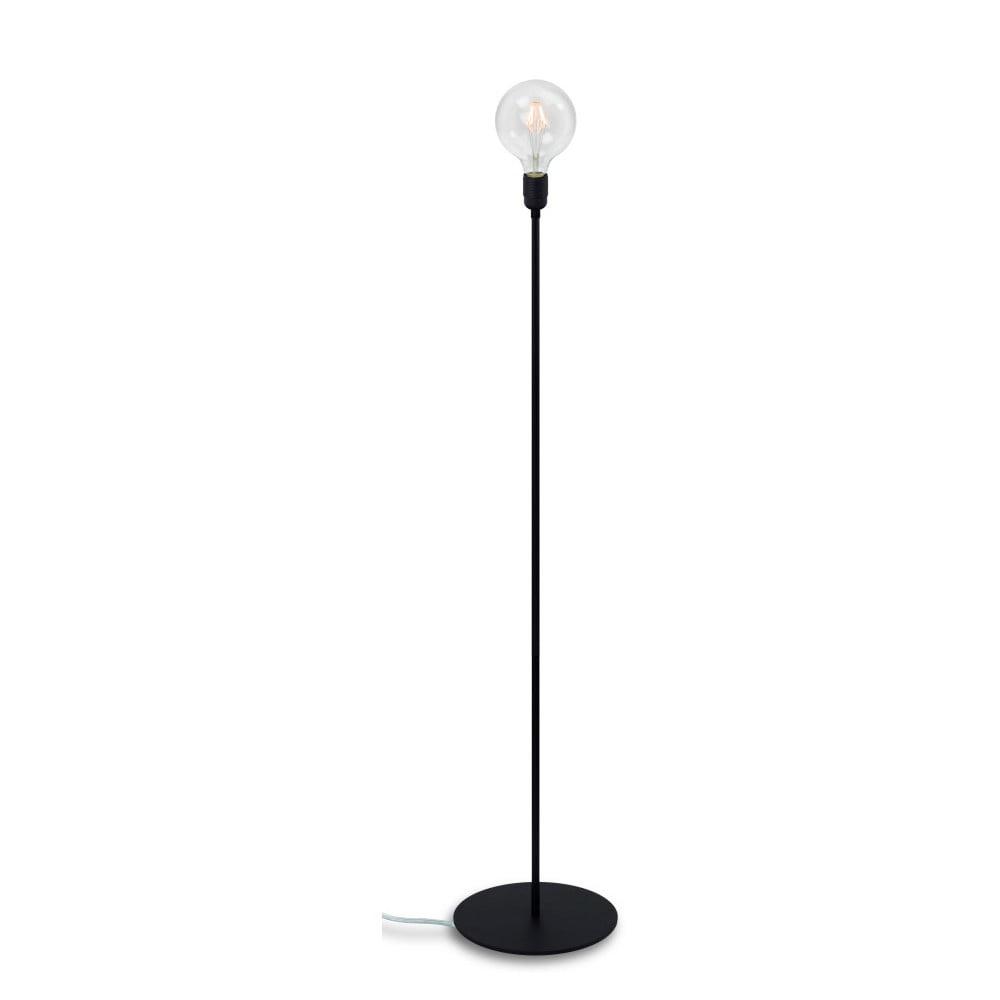 Czarna lampa stojąca Bulb Attack Uno Basic