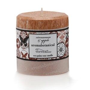 Świeczka z wosku palmowego o zapachu cynamonu i jabłka Aromabotanical, czas palenia16h