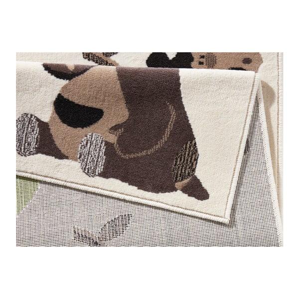 Beżowy dywan dziecięcy we wzory zwierząt Zala Living Animals, 140x200 cm
