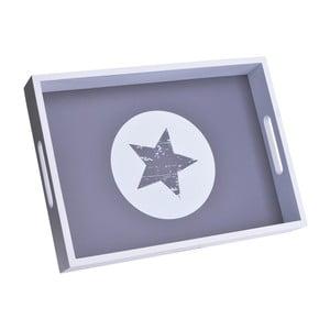 Drewniana taca Star White Circle