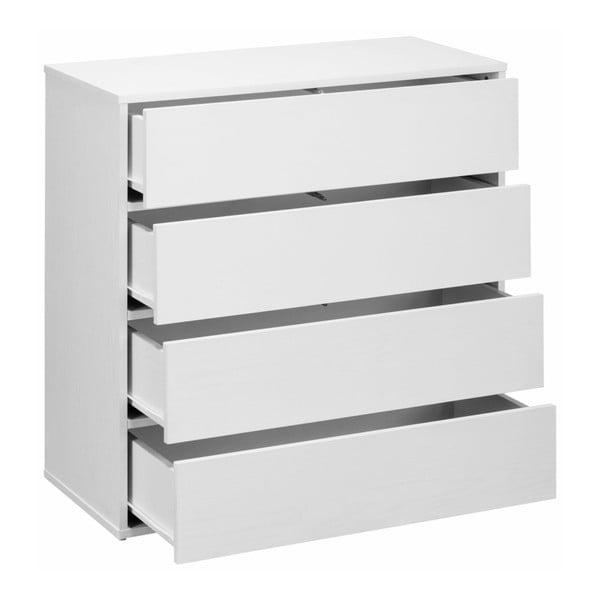 Biała komoda z szufladami Støraa Lancaster, szer. 80 cm