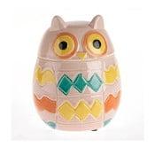 Ceramiczny pojemnik Owl Pink
