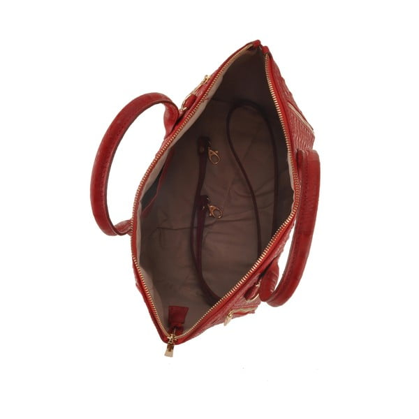 Skórzana torebka Emilio Masi Nunki, czerwona