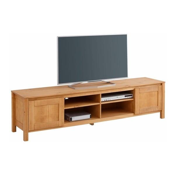 Szafka   pod TV z 4 półkami z litego drewna sosnowego Støraa Salento