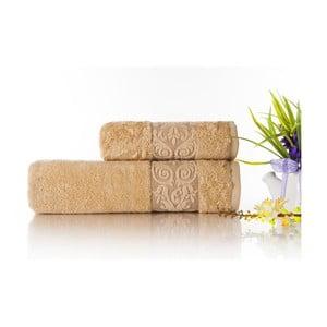Zestaw 2 ręczników Bamboo Glory Beige, 50x90 cm i 70x140 cm