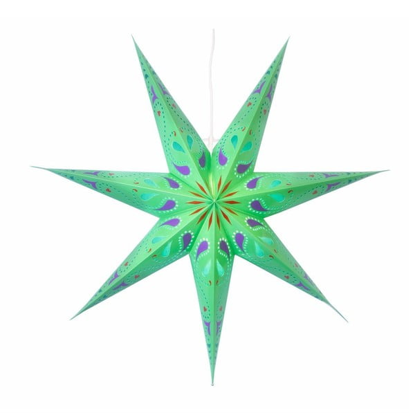 Świecąca gwiazda ze stojakiem Siri Green, 70 cm