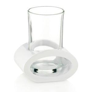 Szklanka z białym uchwytem Kela Mirage