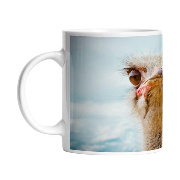 Ceramiczny kubek Curious Ostrich, 330 ml