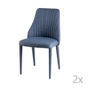 Zestaw 2 jasnoniebieskich krzeseł sømcasa Dora