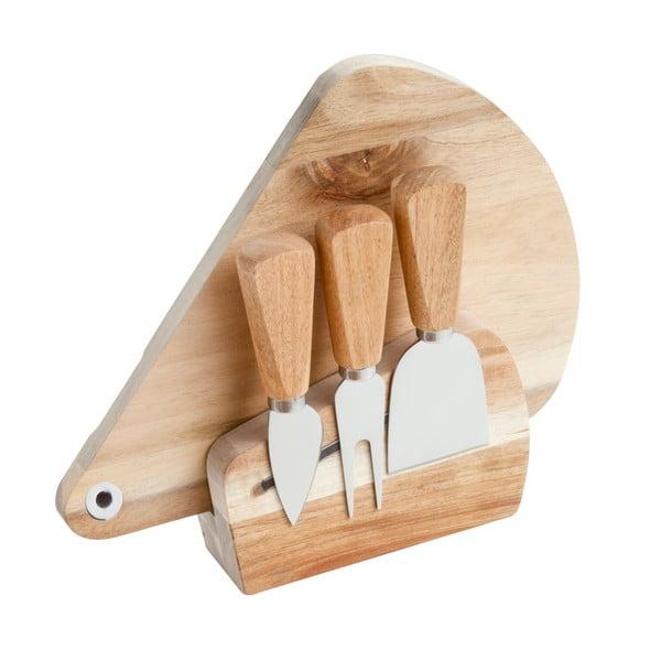 Deska i 3 nożyki do krojenia serów Brandani Acacia