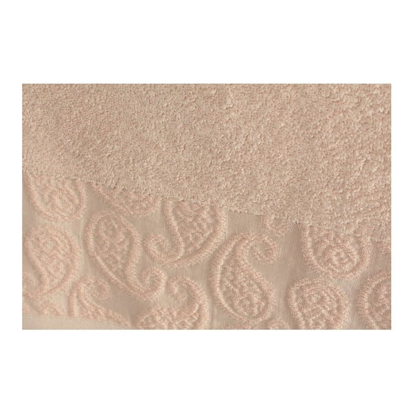 Zestaw 2 pudrowych ręczników Sal, 90x150 cm