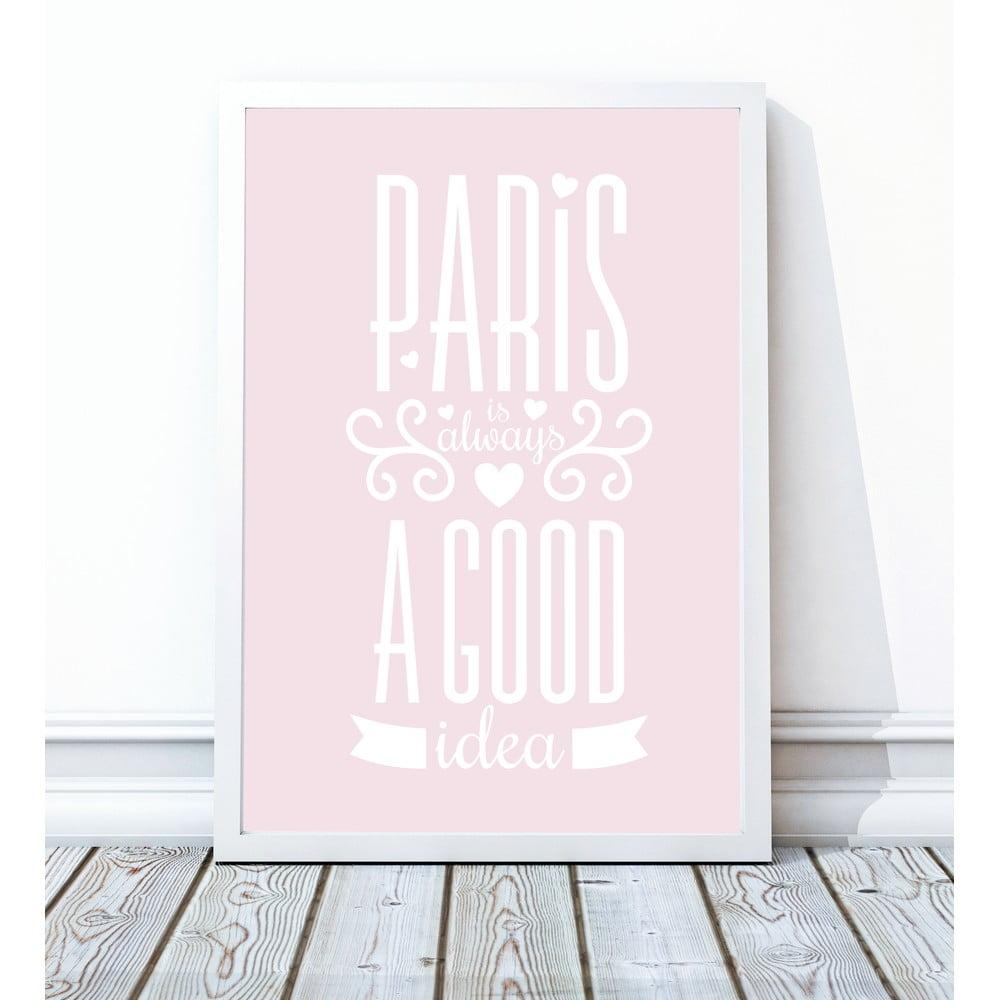 Oprawiony Plakat Paris 30x40 Cm Bonami
