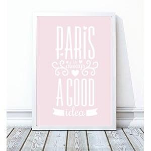 Oprawiony plakat Paris, 30x40 cm
