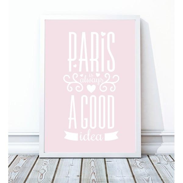 Oprawiony plakat Paris, 40x50 cm