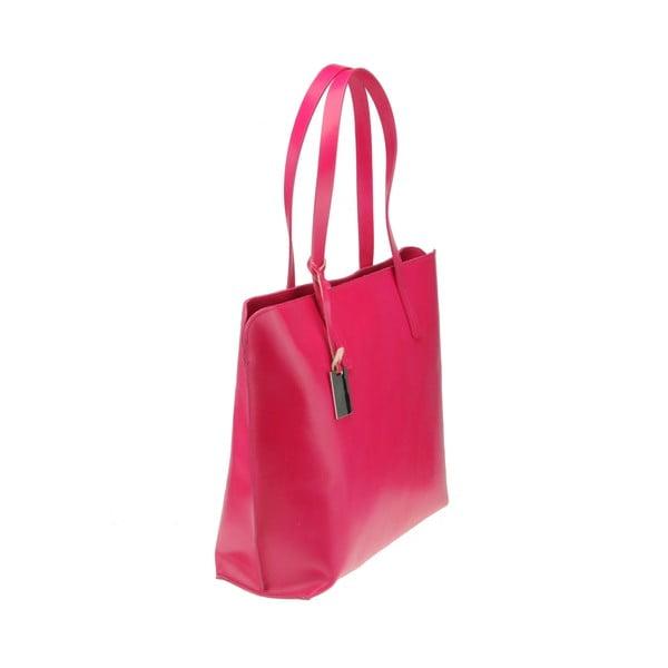 Skórzana torebka Vega, różowa