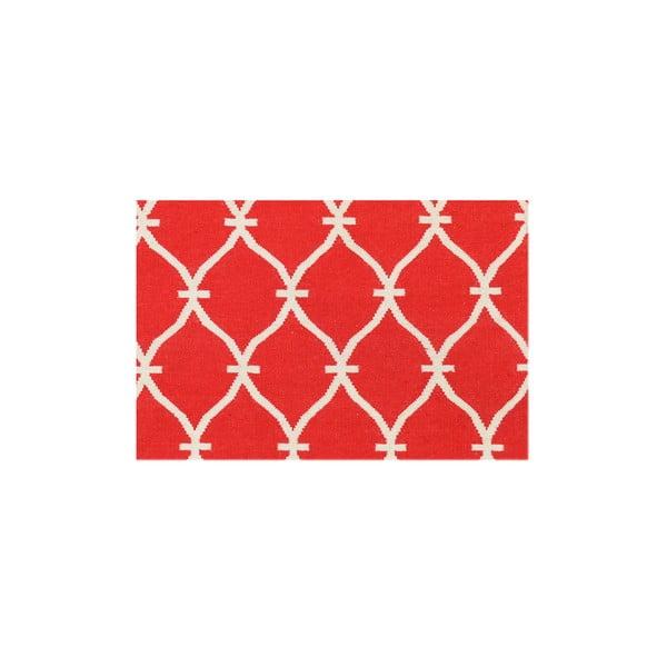 Ręcznie tkany dywan Kilim Belinda Red, 155x240 cm