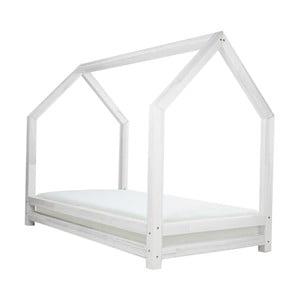 Białe łóżko 1-osobowe z drewna sosnowego Benlemi Funny, 90x180cm