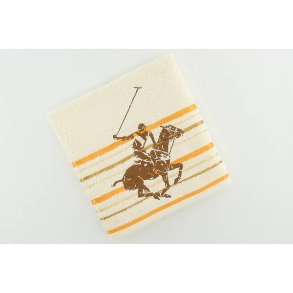 Ręcznik bawełniany BHPC Cream 50x100 cm, żółty