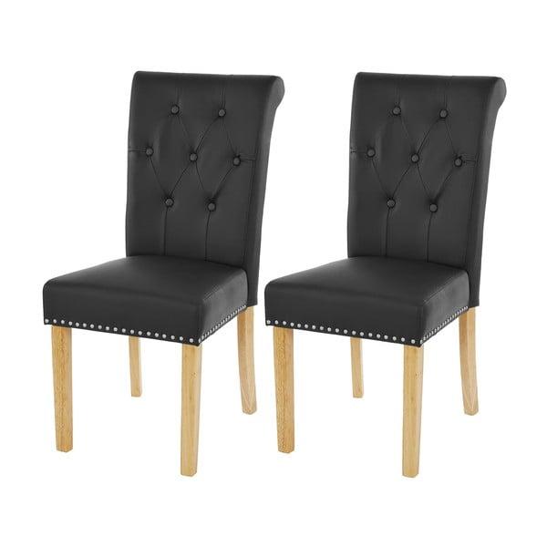 Komplet 2 krzeseł do jadalni Mendler Chesterfield