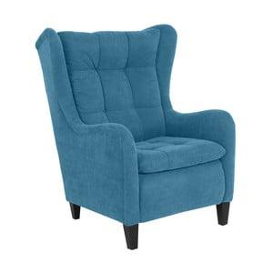 Niebieski fotel Max Winzer Merlon