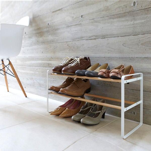 Biała półka na buty Yamazaki Shoe Rack 2