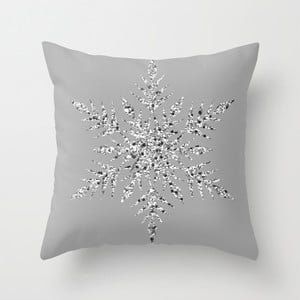 Poszewka na poduszkę Snowflake Grey I, 45x45 cm