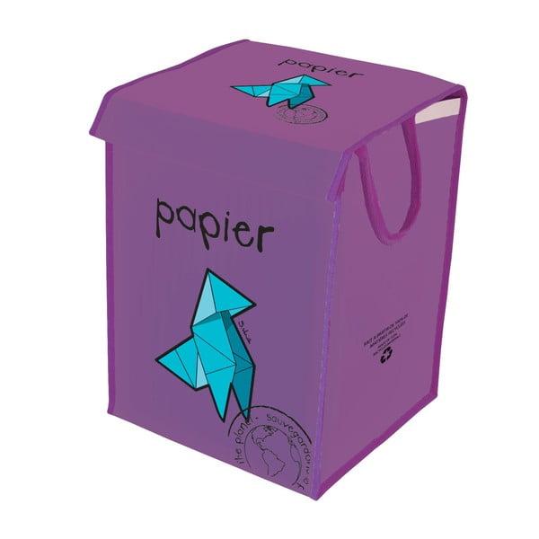 Kosz do segregacji papieru Rubbish for Recycling, fioletowy