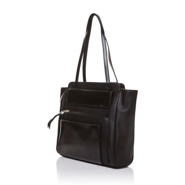 Skórzana torebka przez ramię Marta Ponti Zippy, czarna