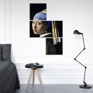 Trzyczęściowy obraz Asymetric Pearl Earring, 60x90 cm