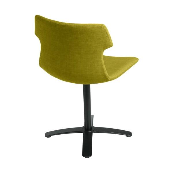 Zestaw 2 oliwkowych tapicerowanych krzeseł D2 Techno One