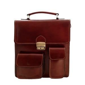 Skórzana torba Verdicchio, czekoladowa