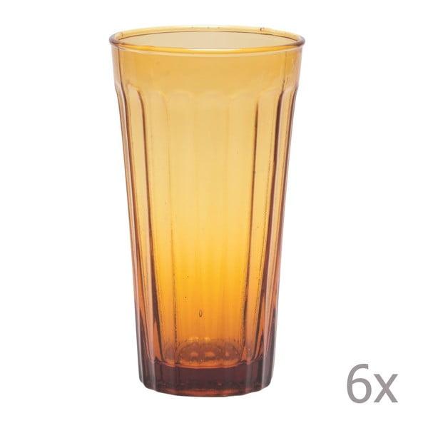 Zestaw 6 wysokich szklanek Lucca Honey, 500 ml