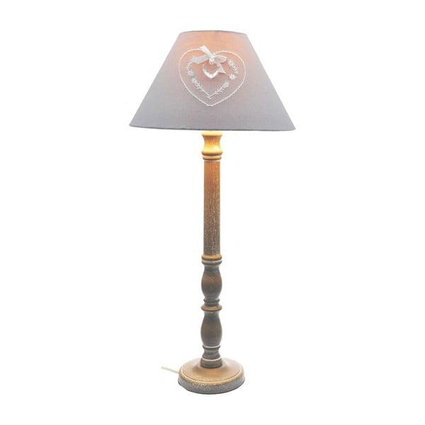 Lampa stołowa Grey Heart