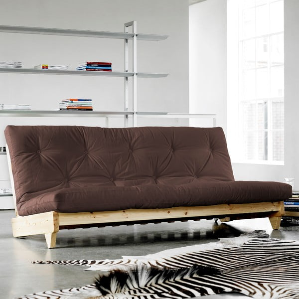 Sofa rozkładana Karup Fresh Natural/Brown