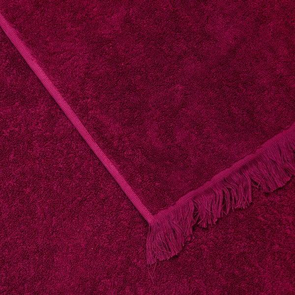 Komplet 4 bordowych ręczników bawełnianych Casa Di Bassi Bath, 50x90 cm