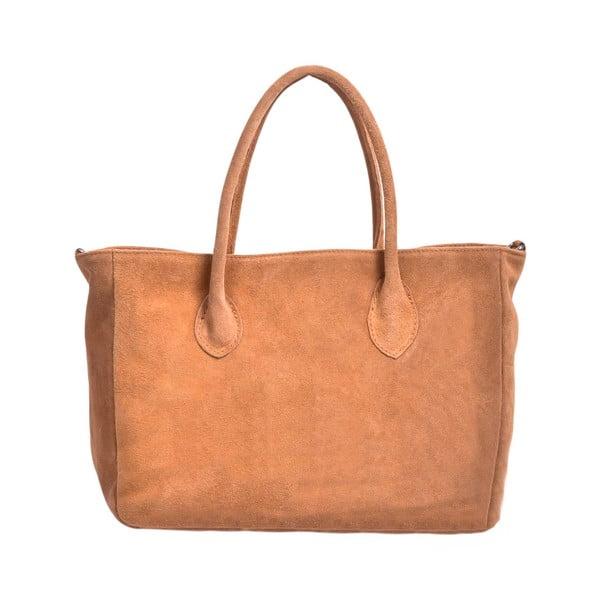 Skórzana torebka Shanna, kolor wielbłądzi