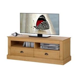 Naturalna szafka pod TV z drewna sosnowego Støraa