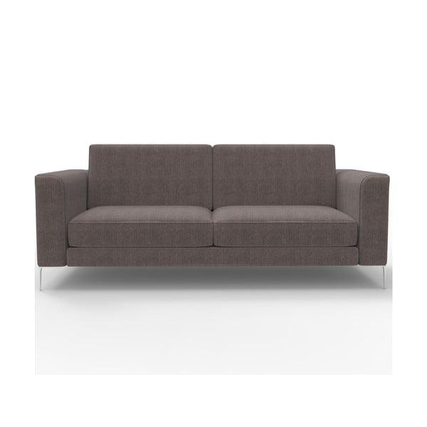 Sofa trzyosobowa Miura Musa, pokrycie brązowe, tkanina
