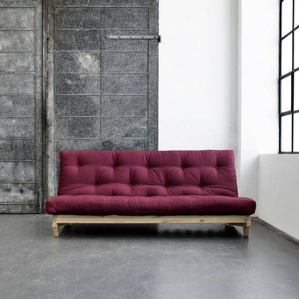 Sofa rozkładana Karup Fresh Natural/Bordeaux