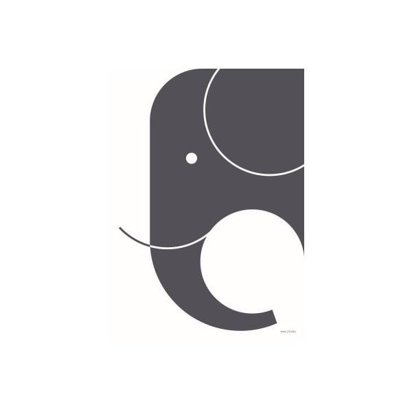 Ciemnoszary plakat SNUG.Elephant, 50x70 cm