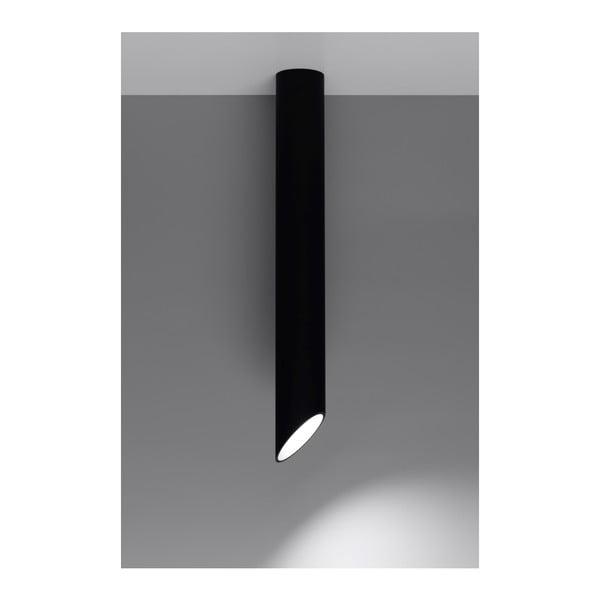 Czarna lampa sufitowa Nice Lamps Nixon, długość 80 cm