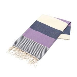 Ręcznik hammam American Stripes Navy, 100x180 cm