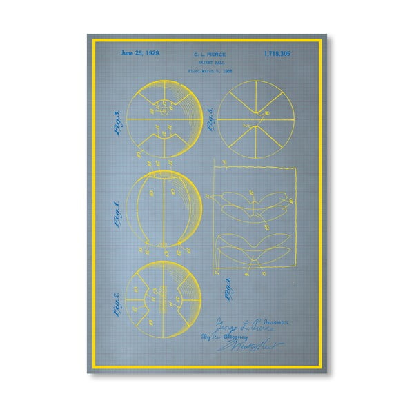 Plakat Basketball, 30x42 cm