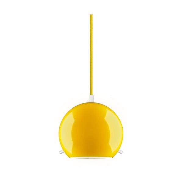 Żółta błyszcząca lampa wisząca Sotto Luce MYOO
