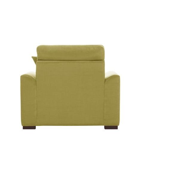 Żółty fotel Jalouse Maison Irina