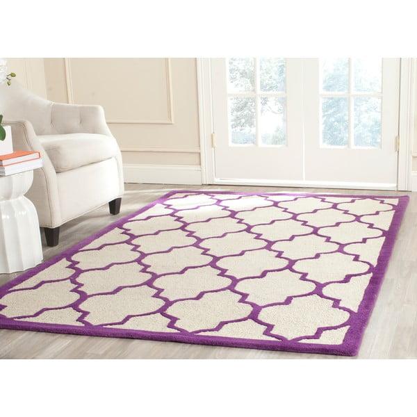 Wełniany dywan Everly Violet, 152x243 cm