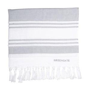 Szary ręcznik kąpielowy Green Gate Hammam