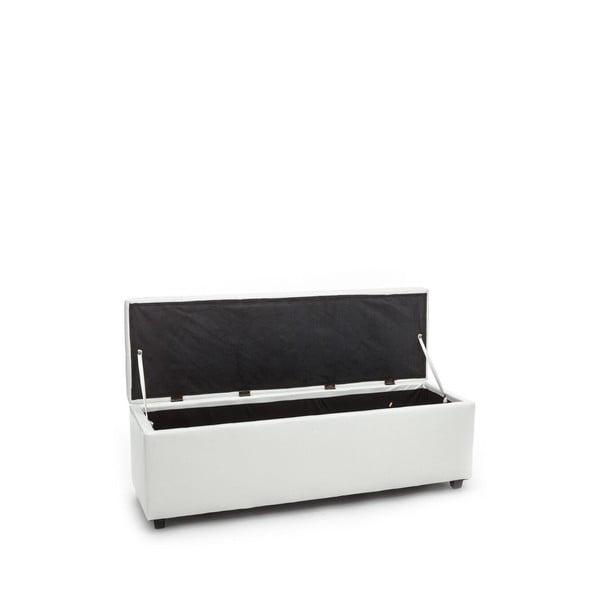 Biały ławka ze schowkiem Tomasucci Nice